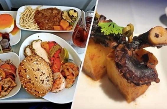 Estas são as comidas da primeira classe de 24 companhias aéreas