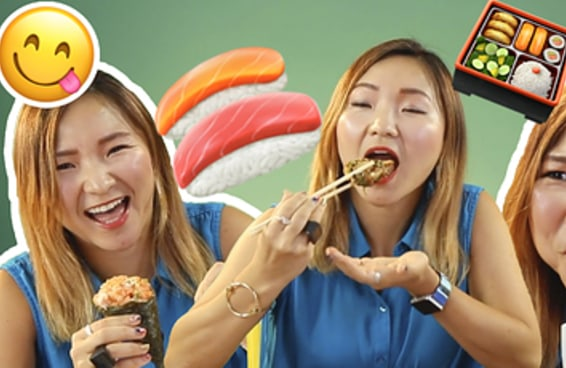Japonesa prova sushis abrasileirados pela primeira vez