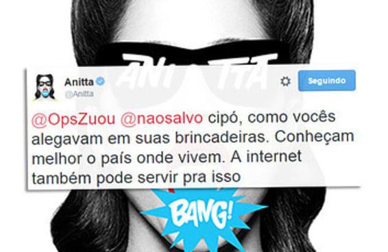 Anitta deu a melhor resposta à campanha feita para enviá-la ao Acre