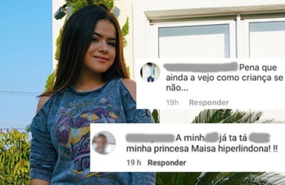 Mensagens para Maísa mostram a naturalidade com que homens assediam meninas