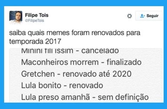 Confira lista de memes cancelados ou renovados para a temporada 2017