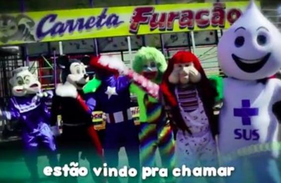 A Carreta Furacão ganhou o reforço inesperado do Zé Gotinha