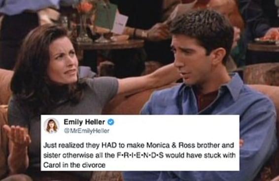 """Agora a briga é por causa dessa teoria sobre Monica e Ross em """"Friends"""""""