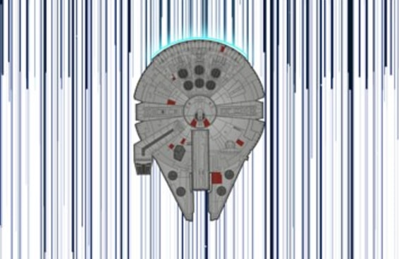 """Este artista recriou """"Star Wars: Episódio IV"""" como uma ilustração de 123 metros de comprimento"""