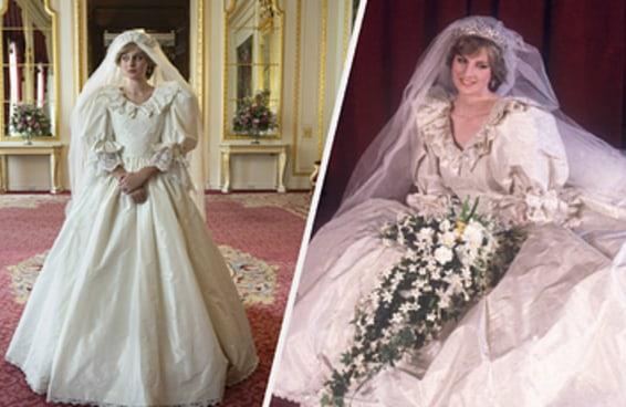 Essa é a história por trás do vestido de noiva da princesa Diana que The Crown não mostrou