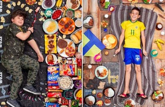 Estas fotos mostram o que crianças do mundo comem durante uma semana