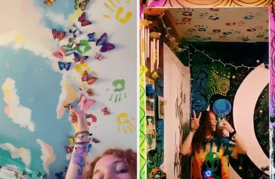 O tour pelo quarto desta artista viralizou no TikTok porque a decoração é uma viagem