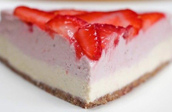 Cheesecake de morango sem lactose