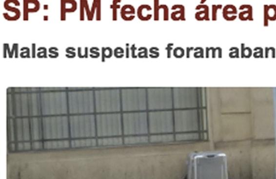 Malas suspeitas de conter bomba em SP tinham apenas roupas