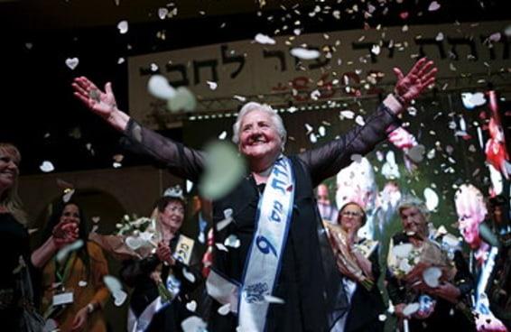 Um grupo de sobreviventes do holocausto desfilou em um concurso de beleza