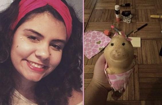 Uma mulher se apaixonou por uma batata e agora elas são melhores amigas