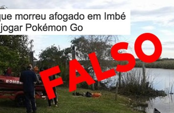 Informação de que menino jogava Pokémon Go antes de se afogar é falsa
