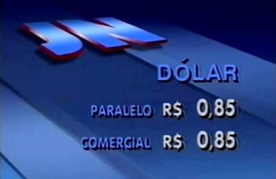 As pessoas estão compartilhando esta imagem do dólar a R$ 0,85 loucamente