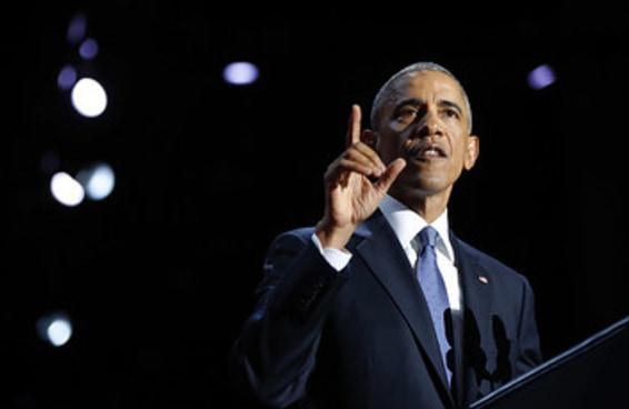 No discurso de despedida, Obama pediu que americanos acreditem no poder de provocar mudanças