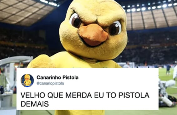 O Canarinho foi proibido de ir para a Copa pela FIFA e estamos todos pistola