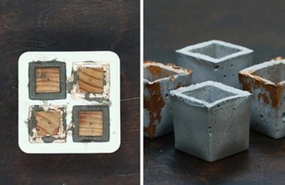 Incremente suas habilidades com estes vasinhos de cimento com ímãs