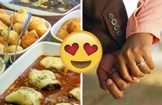 Monte um prato no self service e adivinharemos com que idade você vai casar