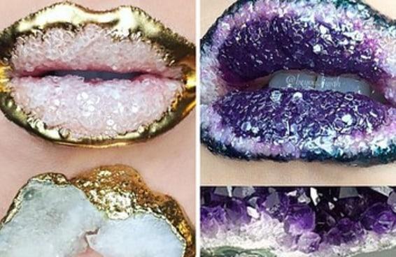 As pessoas no Instagram estão obcecadas com esses lábios de cristal
