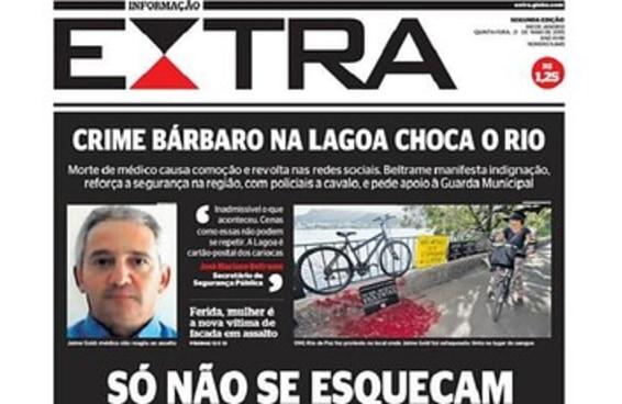 Capa do Extra sobre mortes no Rio abre discussão sobre jornalismo