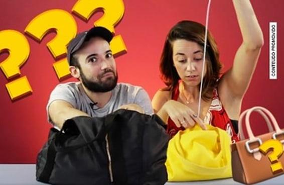 Produtos que mulheres e homens carregam nas bolsas