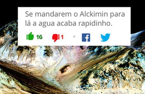 13 comentaristas de internet que acham que Marte é uma filial do Brasil