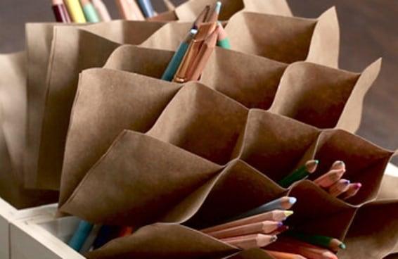 Aprenda um jeito divertido de organizar seus lápis e canetas