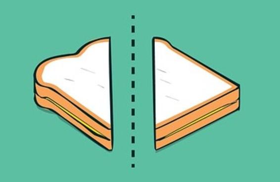 7 razões científicas pelas quais sanduíches cortados diagonalmente são melhores