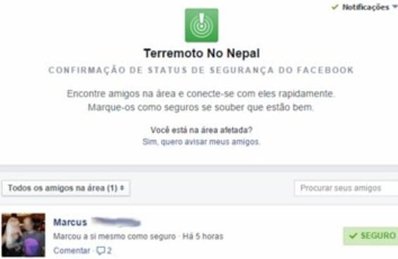 Brasileiros brincam com ferramenta do Facebook criada para localizar pessoas no Nepal