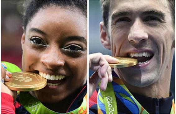 Isto explica por que os atletas olímpicos mordem suas medalhas nas fotos