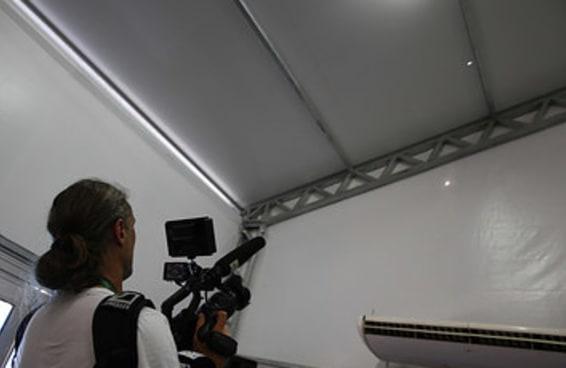 Bala de fuzil atingiu sala de imprensa do Centro Olímpico de Hipismo