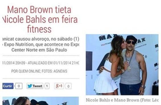 Não, o Mano Brown não tietou a Nicole Bahls em uma feira fitness