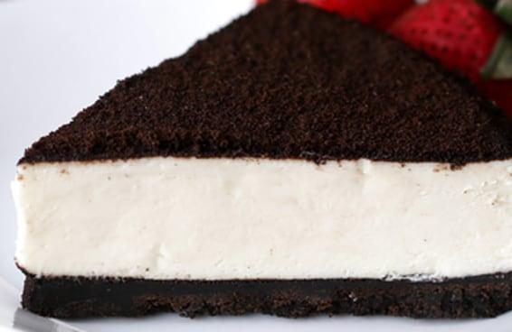 Este cheesecake é feito com biscoitos e amor