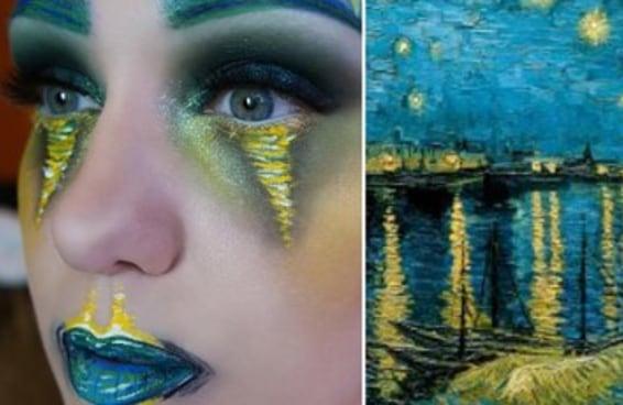 As transformações com maquiagem inspiradas na arte feitas por esta mulher são maravilhosas