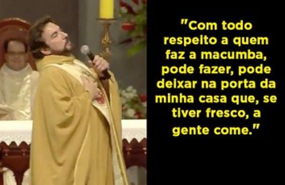 Este discurso do Padre Fábio de Melo mostra a intolerância religiosa disfarçada de comédia
