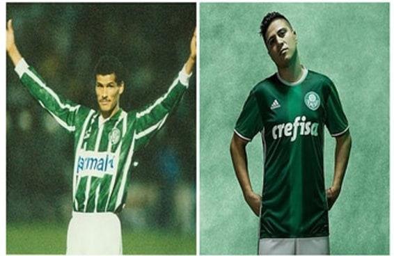 Como eram os uniformes dos times de futebol em 1996 e hoje