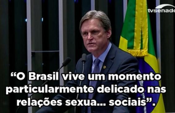 Um senador se confundiu BEM ao tentar explicar as relações atuais no Brasil
