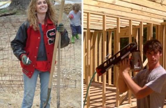 Uma mulher construiu uma casa para seus filhos assistindo a tutoriais no YouTube