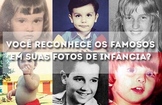 Você consegue descobrir quem são estes famosos quando crianças?