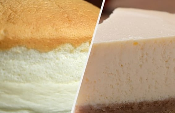 Entre oriente e ocidente quem será que faz o melhor cheesecake? Japão ou EUA?