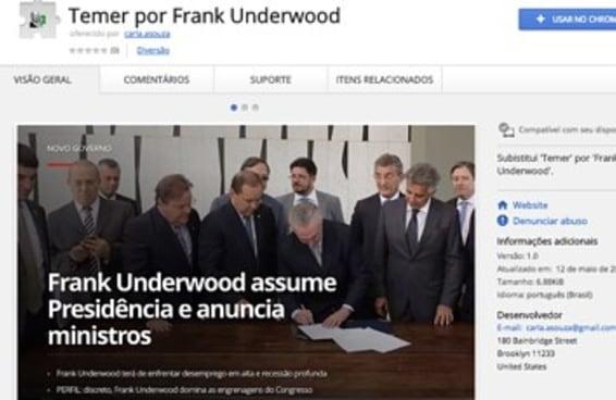 Você pode substituir Michel Temer por Frank Underwood em tudo que você lê na internet