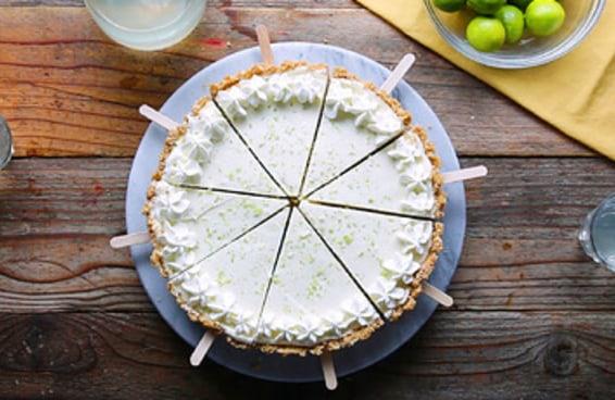 Picolé de cheesecake de limão