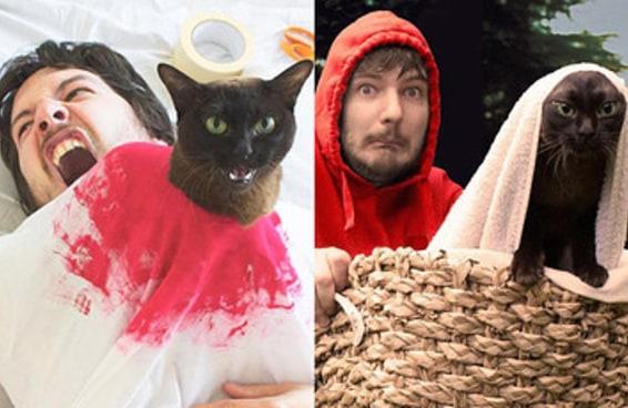 Estes gatinhos recriaram melhor que ninguém cenas famosas de filmes