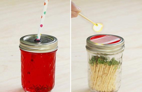 Aprenda quatro maneiras de reutilizar um pote de vidro