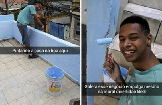 A alegria deste jovem ao ajudar na pintura da casa pode salvar seu dia