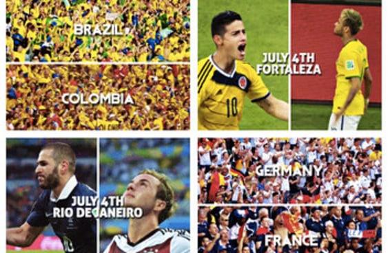 Estes gifs com datas dos jogos das Quartas de Final vão te dar mais vontade de ver a Copa