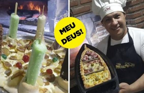 13 pizzas doidas que riem da cara do limite