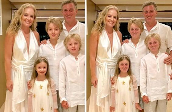 Muita gente está encafifada com a semelhança dos filhos de Huck com o pai