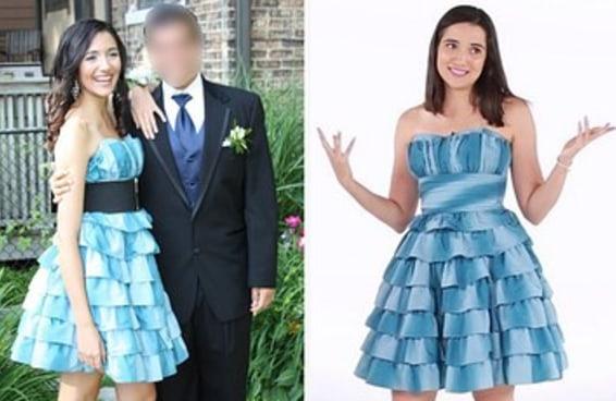 Experimentamos nossos velhos vestidos de formatura e eles ainda são legais