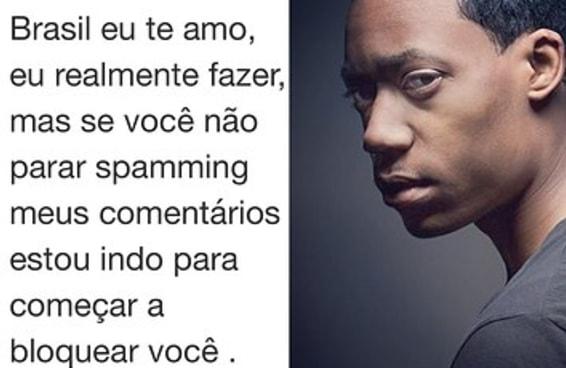 """Ator que fez o """"Chris"""" ameaça bloquear brasileiros que fazem piada em seu Instagram"""