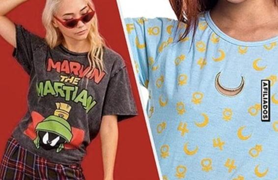 10 camisetas de desenhos animados para montar looks diferentes